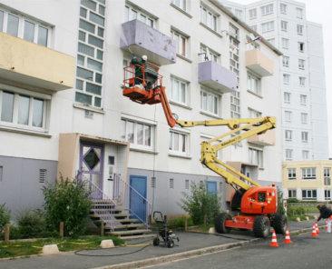 Les travaux de rénovation rue DÜRER vont donner un nouvel éclat aux résidences