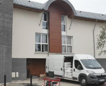Les combles des logements individuels du groupe « Louise MICHEL » ont été isolés