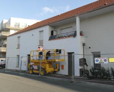 Remise en peinture des logements individuels par la société Novebat