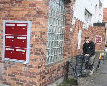 De nouvelles boîtes aux lettres ont été posées en façade